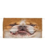 Amazing English Bulldog Cloth face mask front