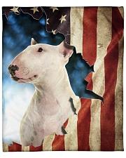 """Beautiful Bull Terrier  Fleece Blanket - 50"""" x 60"""" front"""