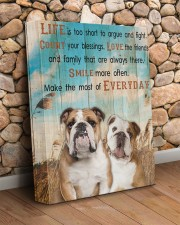 English Bulldog - Smile more 11x14 Gallery Wrapped Canvas Prints aos-canvas-pgw-11x14-lifestyle-front-18