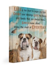 English Bulldog - Smile more 11x14 Gallery Wrapped Canvas Prints front
