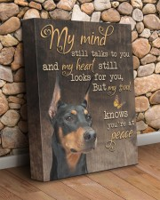 My mind still talks to you - Doberman 11x14 Gallery Wrapped Canvas Prints aos-canvas-pgw-11x14-lifestyle-front-18