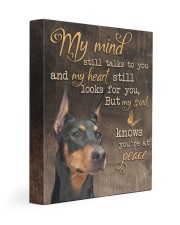 My mind still talks to you - Doberman 11x14 Gallery Wrapped Canvas Prints front