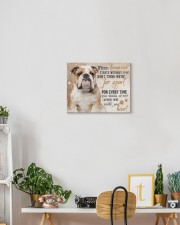 English bulldog - I'm right here in your heart 14x11 Gallery Wrapped Canvas Prints aos-canvas-pgw-14x11-lifestyle-front-03