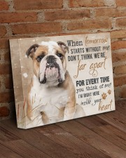 English bulldog - I'm right here in your heart 14x11 Gallery Wrapped Canvas Prints aos-canvas-pgw-14x11-lifestyle-front-09