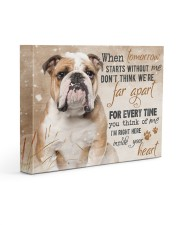 English bulldog - I'm right here in your heart 14x11 Gallery Wrapped Canvas Prints front