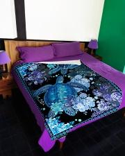 "I love turtles Large Fleece Blanket - 60"" x 80"" aos-coral-fleece-blanket-60x80-lifestyle-front-01"