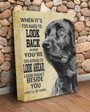 Black Labrador-canvas-I'll be there 11x14 Gallery Wrapped Canvas Prints aos-canvas-pgw-11x14-lifestyle-front-18