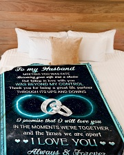 """To my husband - I love you always and forever Large Fleece Blanket - 60"""" x 80"""" aos-coral-fleece-blanket-60x80-lifestyle-front-02"""