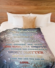 """To my husband - I love you forever and always Large Fleece Blanket - 60"""" x 80"""" aos-coral-fleece-blanket-60x80-lifestyle-front-02"""