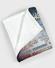 """To my husband - I love you forever and always Large Fleece Blanket - 60"""" x 80"""" aos-coral-fleece-blanket-60x80-lifestyle-front-08"""