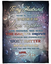 """To my husband - I love you forever and always Large Fleece Blanket - 60"""" x 80"""" front"""