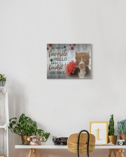 Pit Bull - My favorite hello 14x11 Gallery Wrapped Canvas Prints aos-canvas-pgw-14x11-lifestyle-front-03