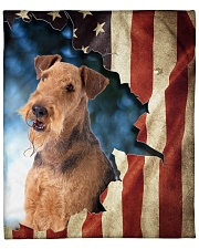 """Beautiful Airedale Terrier Fleece Blanket - 50"""" x 60"""" front"""