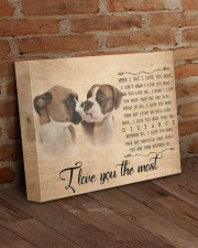 Boxer - I love you the most 14x11 Gallery Wrapped Canvas Prints aos-canvas-pgw-14x11-lifestyle-front-09