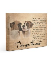 Boxer - I love you the most 14x11 Gallery Wrapped Canvas Prints front