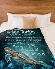 """Advice from turtles Large Fleece Blanket - 60"""" x 80"""" aos-coral-fleece-blanket-60x80-lifestyle-front-02"""