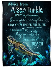 """Advice from turtles Large Fleece Blanket - 60"""" x 80"""" front"""