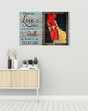 I love chickens 36x24 Poster poster-landscape-36x24-lifestyle-01