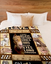 """Pit Bull - Look into their eyes Large Fleece Blanket - 60"""" x 80"""" aos-coral-fleece-blanket-60x80-lifestyle-front-02"""