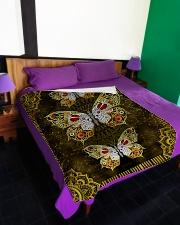 "Beautiful butterfllies Large Fleece Blanket - 60"" x 80"" aos-coral-fleece-blanket-60x80-lifestyle-front-01"