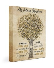 To my future husband - I want to be your last 11x14 Gallery Wrapped Canvas Prints front