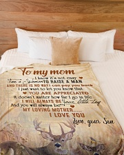 """To my mom - I will always be your little boy Large Fleece Blanket - 60"""" x 80"""" aos-coral-fleece-blanket-60x80-lifestyle-front-02"""