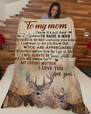 """To my mom - I will always be your little boy Large Fleece Blanket - 60"""" x 80"""" aos-coral-fleece-blanket-60x80-lifestyle-front-04"""