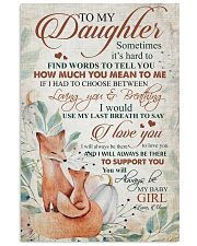 To my daughter - You will always be my baby girl 11x17 Poster front