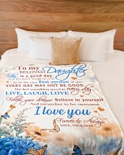 """To my daughter - I love you forever and always Large Fleece Blanket - 60"""" x 80"""" aos-coral-fleece-blanket-60x80-lifestyle-front-02"""