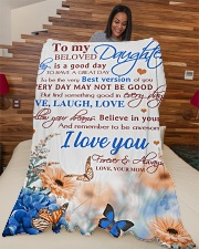 """To my daughter - I love you forever and always Large Fleece Blanket - 60"""" x 80"""" aos-coral-fleece-blanket-60x80-lifestyle-front-04"""