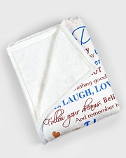 """To my daughter - I love you forever and always Large Fleece Blanket - 60"""" x 80"""" aos-coral-fleece-blanket-60x80-lifestyle-front-08"""