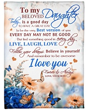 """To my daughter - I love you forever and always Large Fleece Blanket - 60"""" x 80"""" front"""
