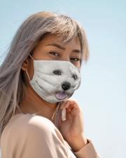 Amazing Bichon Frise Cloth face mask aos-face-mask-lifestyle-19