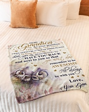 """Nana to my grandson - I'll always be with you Small Fleece Blanket - 30"""" x 40"""" aos-coral-fleece-blanket-30x40-lifestyle-front-01"""