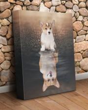 Corgi Reflection 11x14 Gallery Wrapped Canvas Prints aos-canvas-pgw-11x14-lifestyle-front-18