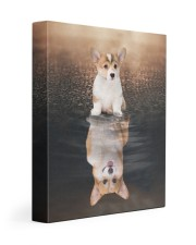 Corgi Reflection 11x14 Gallery Wrapped Canvas Prints front