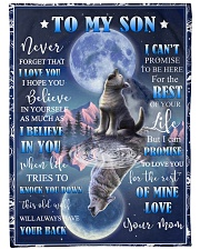 """To my amazing son - Never forget that I love you Large Fleece Blanket - 60"""" x 80"""" front"""