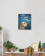 Labrador - My mind still talks to you 11x14 Gallery Wrapped Canvas Prints aos-canvas-pgw-11x14-lifestyle-front-03