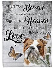 "English Bulldog - Love never dies Large Fleece Blanket - 60"" x 80"" front"