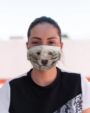Amazing Chinese Crested Cloth face mask aos-face-mask-lifestyle-03