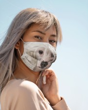 Amazing Chinese Crested Cloth face mask aos-face-mask-lifestyle-19