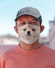 Amazing Pomeranian Cloth face mask aos-face-mask-lifestyle-06