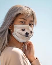 Amazing Pomeranian Cloth face mask aos-face-mask-lifestyle-19
