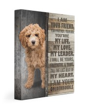 Goldendoodle - I am your friend 11x14 Gallery Wrapped Canvas Prints front