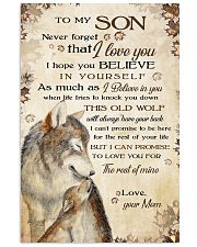 To my son - Never forget that I love you 11x17 Poster front