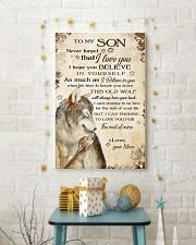 To my son - Never forget that I love you 11x17 Poster lifestyle-holiday-poster-3