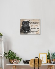 Black Pug - I'm right here in your heart 14x11 Gallery Wrapped Canvas Prints aos-canvas-pgw-14x11-lifestyle-front-03