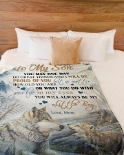 """To my son - You will always be my little boy Large Fleece Blanket - 60"""" x 80"""" aos-coral-fleece-blanket-60x80-lifestyle-front-02"""