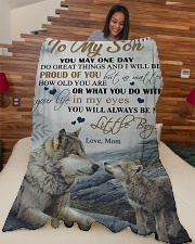 """To my son - You will always be my little boy Large Fleece Blanket - 60"""" x 80"""" aos-coral-fleece-blanket-60x80-lifestyle-front-04"""