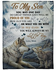"""To my son - You will always be my little boy Large Fleece Blanket - 60"""" x 80"""" front"""